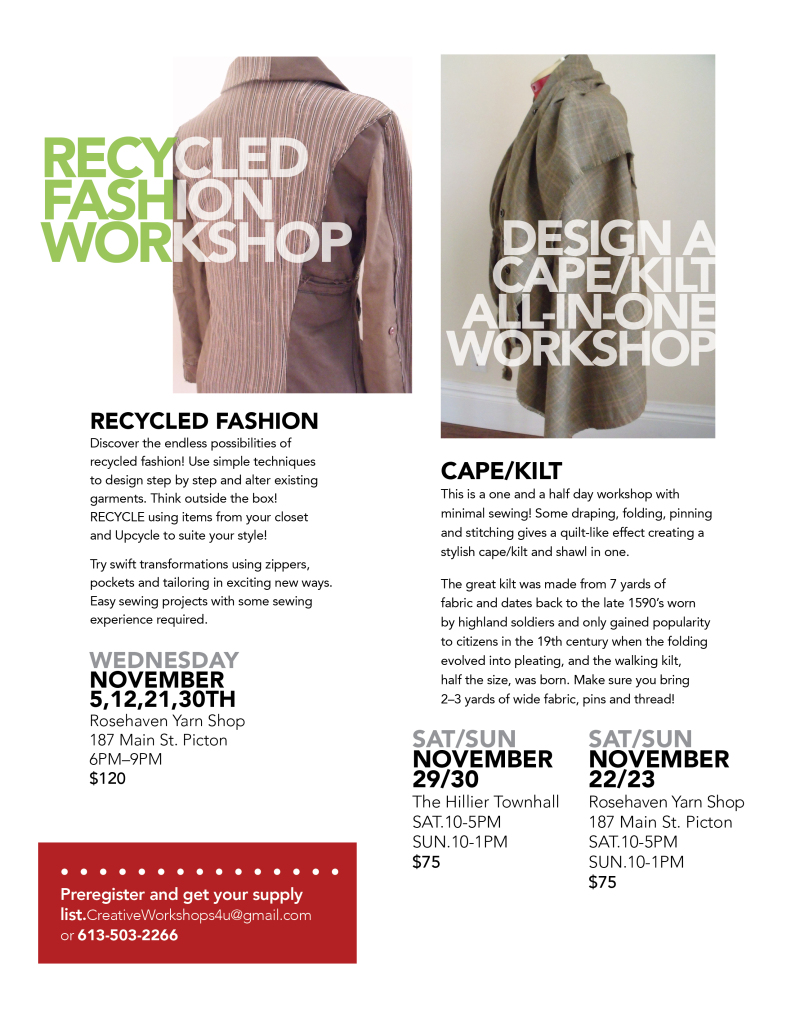 Recycled fashion workshops